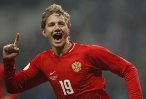 Роман Павлюченко в сбороной России по футболу.